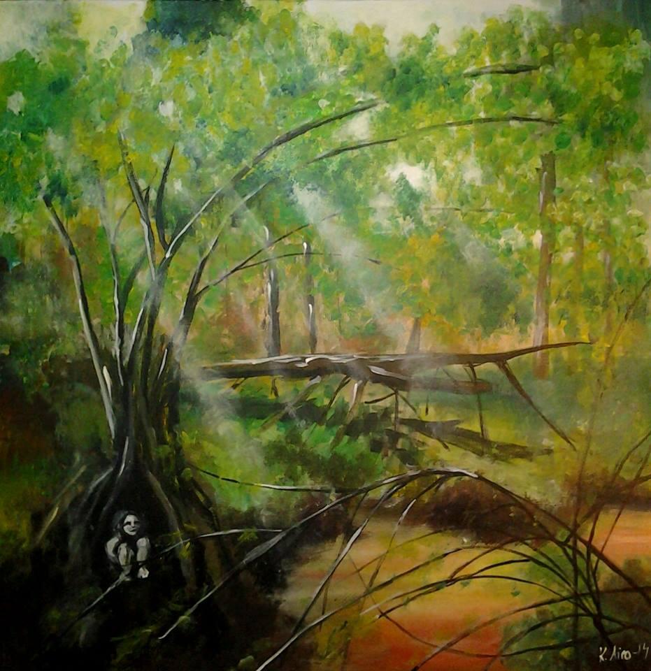 2014, akryylimaali, canvas 90x90cm, 850e