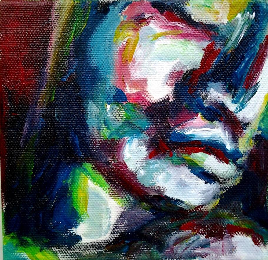 2014, akryylimaali, canvas, 10x10cm, 30e