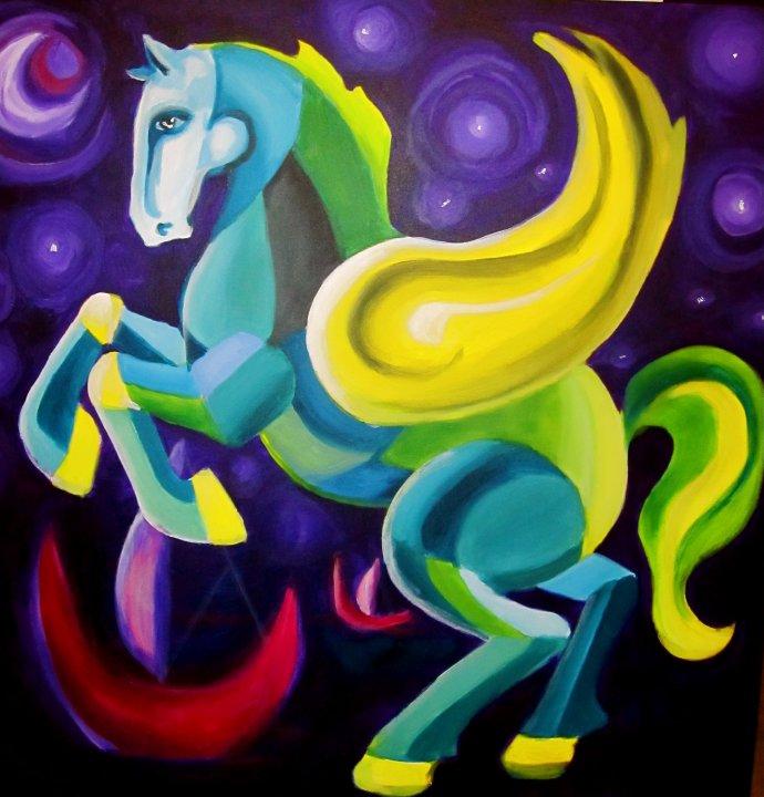 2010, akryylimaali, canvas, 90x90cm