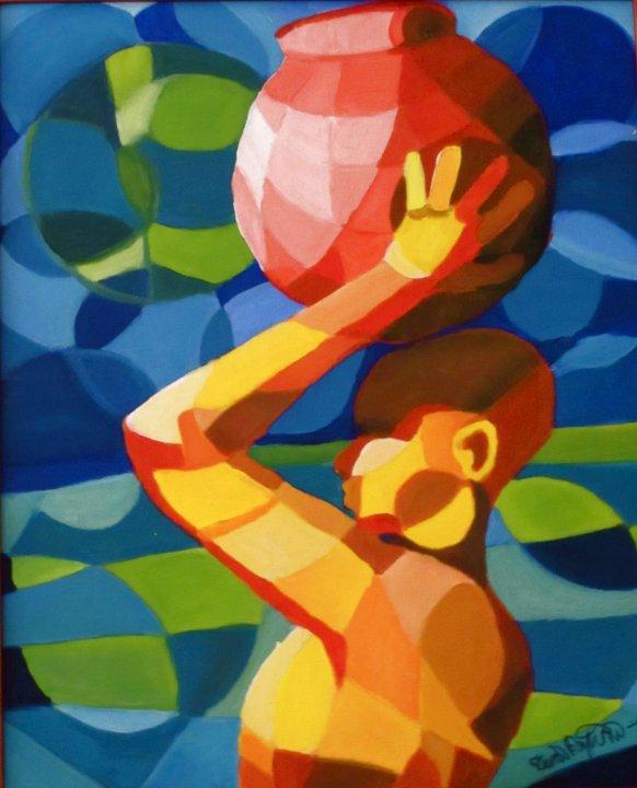 1999, akryylimaali, canvaspahvi 50x70cm